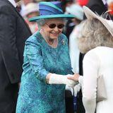 31. Mai 2018  Willkommen! Queen Elizabeth begrüßt ihre Gäste und hält ein kurzes Schwätzchen.