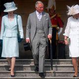 15. Mai 2019  Prinzessin Anne, Prinz Charles und Herzogin Camilla machen sich auf den Weg zu der nächsten Gartenparty von Queen Elizabeth.