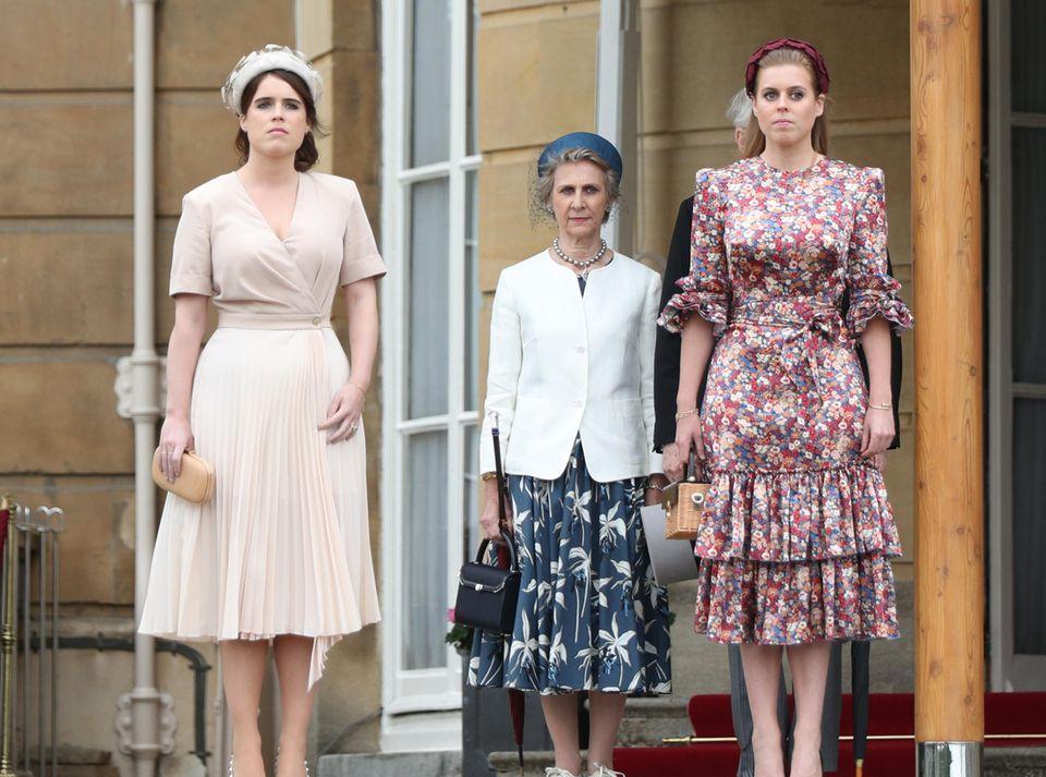 29. Mai 2019  Und auch Prinzessin Eugenie und Prinzessin Beatrice lassen sich die dritte Gartenparty ihrer Großmutter nicht entgehen.