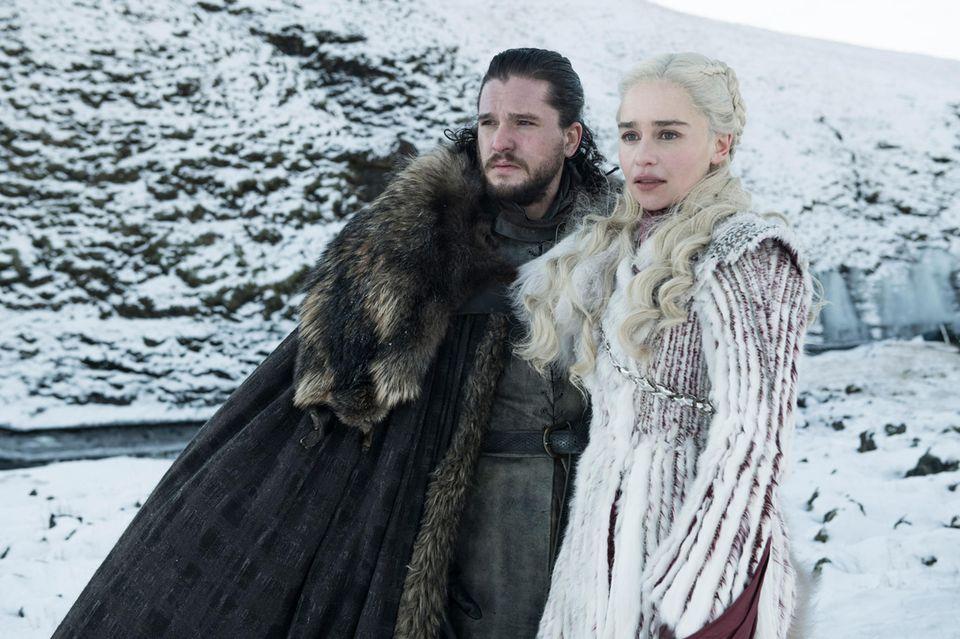 """Kit Harington (""""Jon Snow"""") und Emilia Clarkle ("""""""