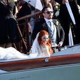 1. Juni 2019  Mit einem typisch venezianischen Wassertaxi geht es für Barbara und Clemens nach der Trauung zur Partylocation.