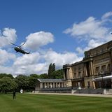 Marine One landet vor dem Buckingham Palast