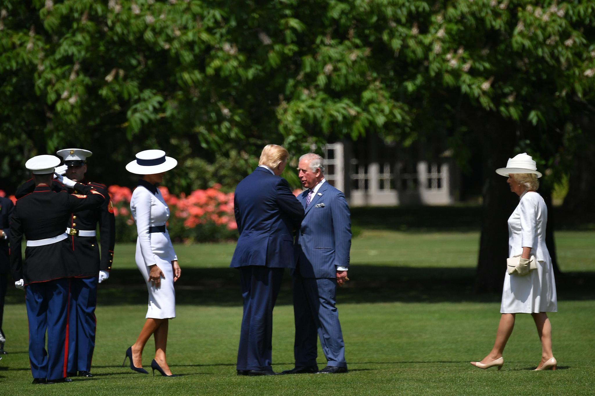 Melania Trump, Donald Trump, Prinz Charles, Herzogin Camilla
