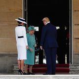 Melania Trump und Donald Trump treffen Queen Elizabeth