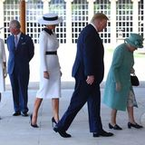 Herzogin Camilla, Prinz Charles, Melania Trump, Donald Trump, Queen Elizabeth