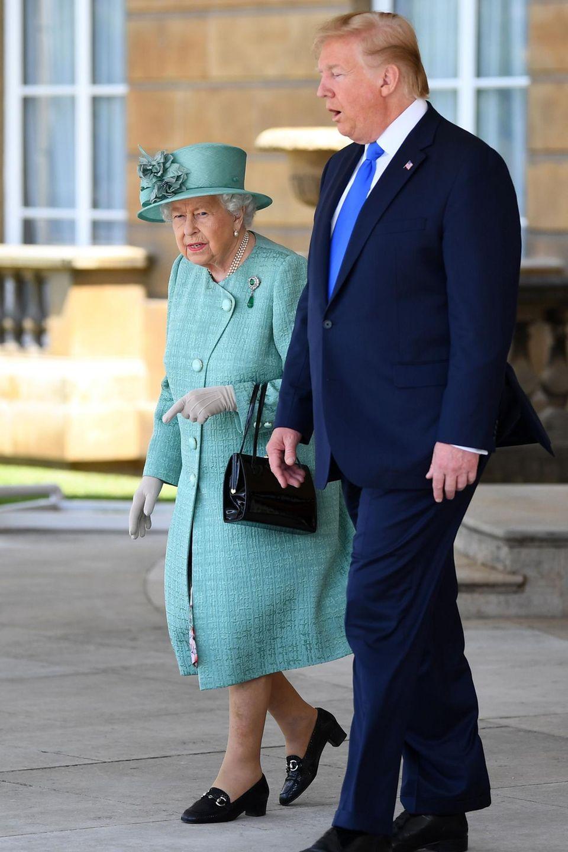 Queen Elizabeth, Donald Trump