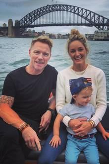 5. April 2019  Gemeinsam mit Sohn Cooper machen Ronan und Storm Keating den Hafen von Sydney unsicher.