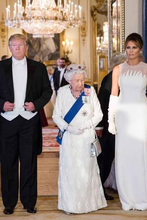 Donald Trump, Queen Elizabeth, Melania Trump