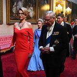 Vorne: Unternehmerin Emma Walmsley, Prinz Richard, Herzog von Gloucester, hinten: Brigitte, Herzogin von Gloucester und der Lord Great Chamberlaim