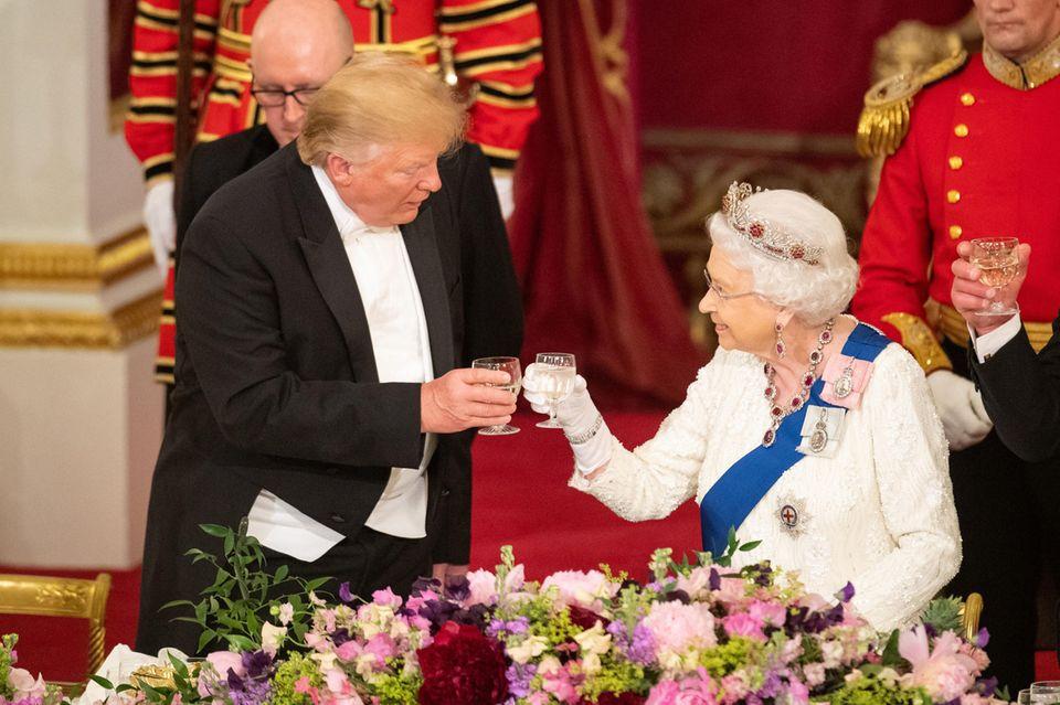 US-Präsident Donald Trump, Queen Elizabeth II.