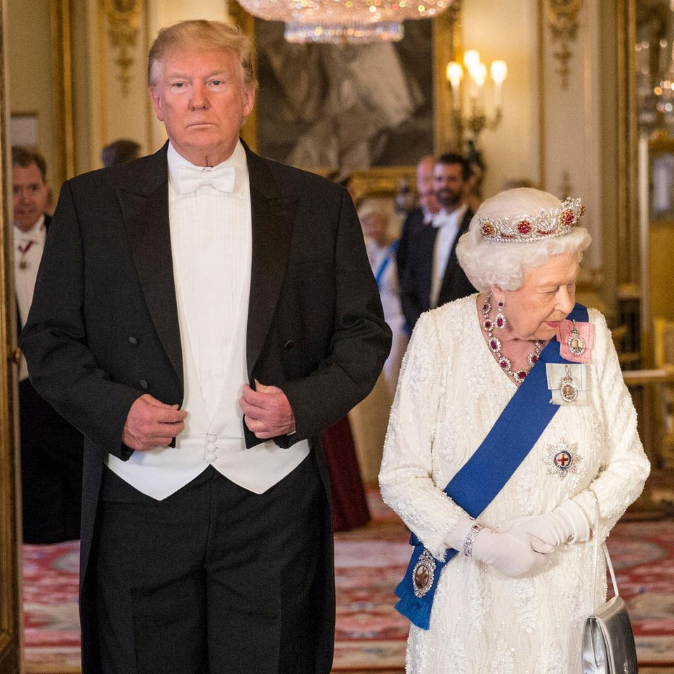 Donald Trump und Queen Elizabeth