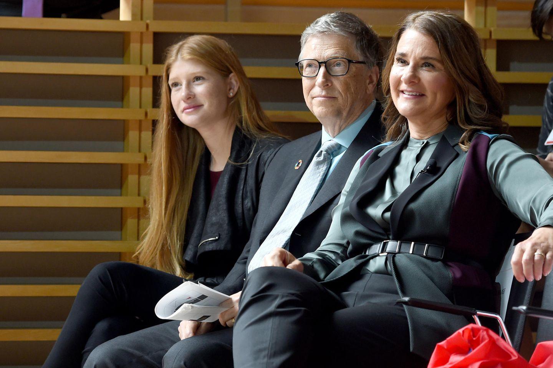Jennifer Gates, Bill Gates und Melinda Gates.