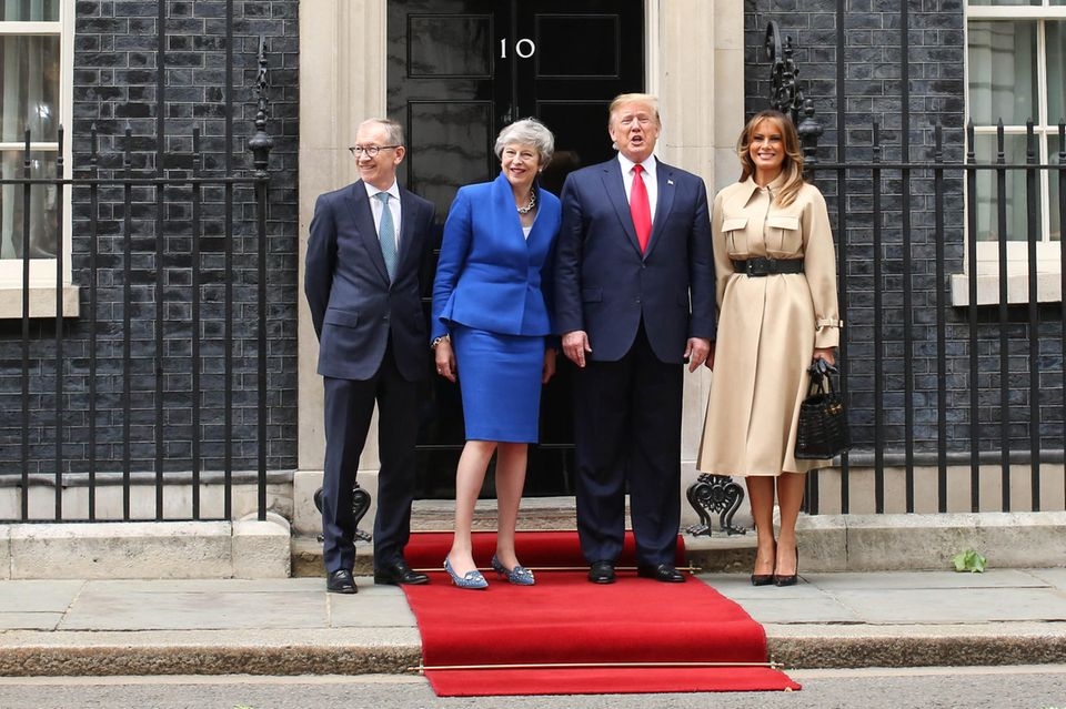 Philip May, Theresa May, Donald Trump, Melania Trump