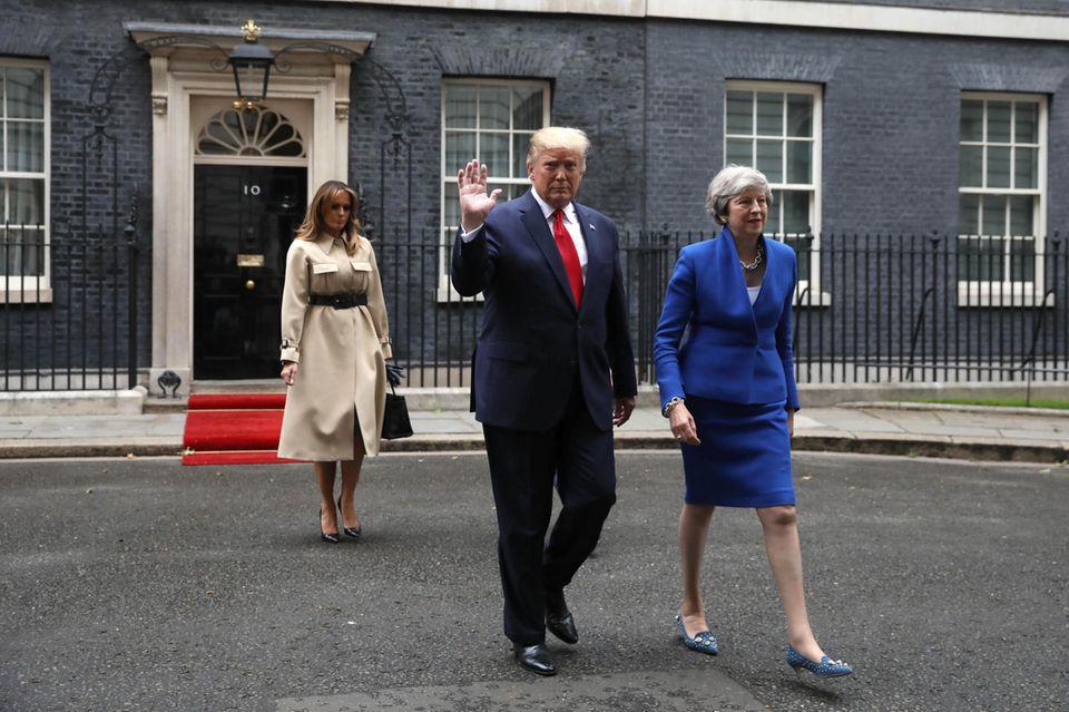Melania Trump, Donald Trump, Theresa May