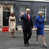 Melania Trump, Donald Trump, Theresa May