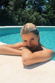 2. Juni 2019  InAix-en-Provence, Frankreich, lässt Lena Gercke die Seele baumeln.