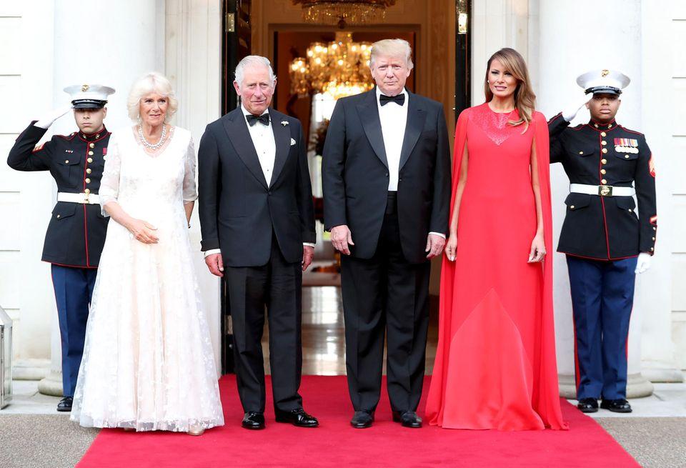 Herzogin Camilla, Prinz Charles, Donald Trump, Melania Trump