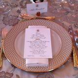 Menü-Karte Dinner Trump Winfield House