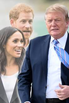 Meghan, Harry, Trump