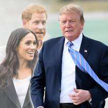 Meghan, Harry, Trump
