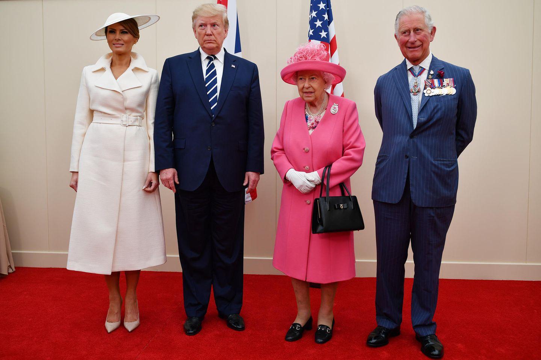 Melania Trump, Donald Trump, Queen Elizabeth, Prinz Charles