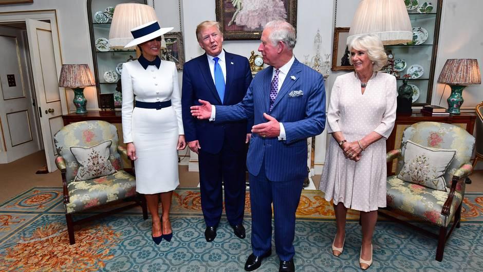 Prinz Charles und Donald Trump