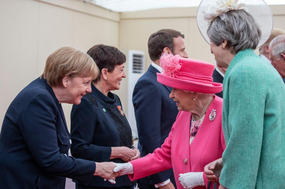 Angela Merkel, Queen Elizabeth, Theresa May