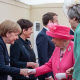 Angela Merkel, Queen Elizabeth, Theresa May