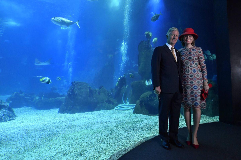 """König Philippe und Königin Mathilde besuchen Besuch das """"Oceano Azul Foundation and Oceanarium"""" in Lissabon."""