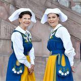 Königin Silvia und Prinzessin Victoria haben einiges zu besprechen, König Carl Gustaf machtsich indes schon mal aus dem Staub.
