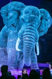 Hologramm-Elefant im Circus Roncalli