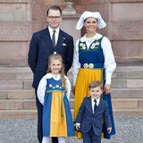 Prinz Daniel, Kronprinzessin Victoria, Prinzessin Estelle und Prinz Oscar
