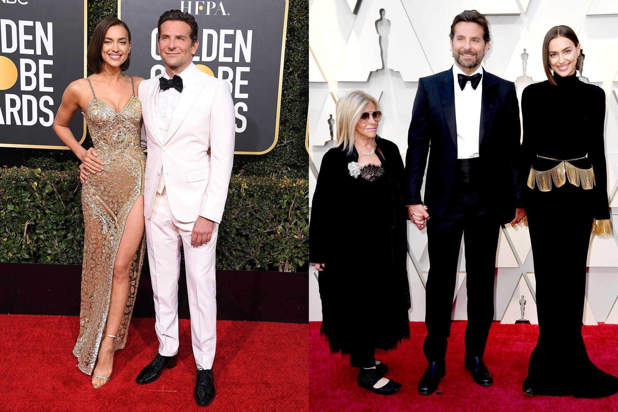 Bei den Golden Globe Awards versprühen Irina Shayk und Bradley Cooper viel Glamour und beste Laune. Zu den Oscars begleitet sie Mama Gloria.
