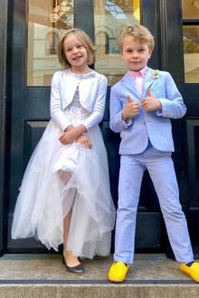 6. Juni 2019  Stylischer letzter Schultag: Harper und Gideon, die Kinder von Neil Patrick Harris, haben sich für ihren letzten Schultag der zweiten Klasse so richtig chic gemacht und starten nun gut gelaunt in die Sommerferien.