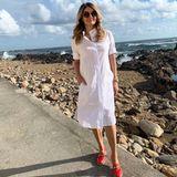 Frauke Ludowig macht nicht nur als Moderatorin vor der Kamera eine gute Figur, sondern auch als Model. Für ein Label shootet sie in Portugal und versprüht mit ihrem Look Urlaubsfeeling pur.