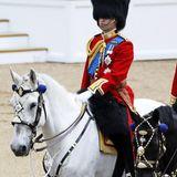 Prinz William macht auf einem Schimmel eine stattliche Figur.
