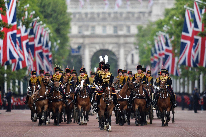 """Die """"Trooping the Colour""""-Parade gehört zu den spektakulärsten Militärparaden weltweit."""