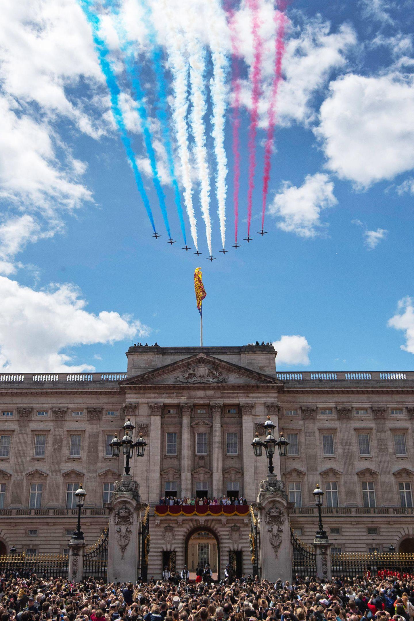 Der Überflug der RAF-Piloten ist immer wieder beeindruckend.