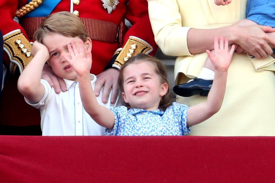 Prinz William, Herzogin Catherine mit Prinz Louis,Prinz George und Prinzessin Charlotte