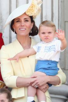 Herzogin Catherine mit Prinz Louis bei Trooping the Colour