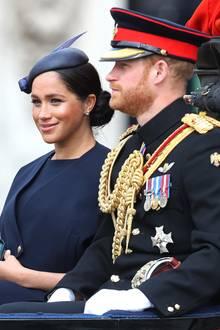 Herzogin Meghan und Prinz Harry bei Trooping the Colour