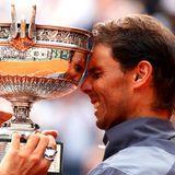 9. Juni 2019  So sieht Freude aus! Der spanische Tennis-Star Rafael Nadal gewinnt in Paris das Finale der French Open gegen den Österreicher Dominic Thiem.