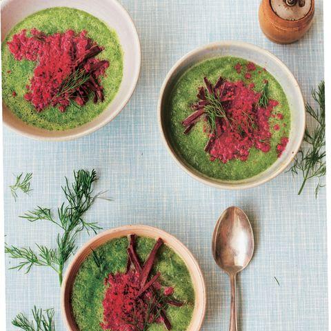 Schwedische Gurkensuppe mit Joghurt-Granita