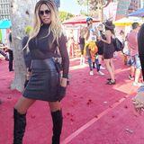 "Dietranssexuelle ""Orange Is the New Black""-DarstellerinLaverne Cox nimmt an der LA Pride Parade in Hollywood teil."