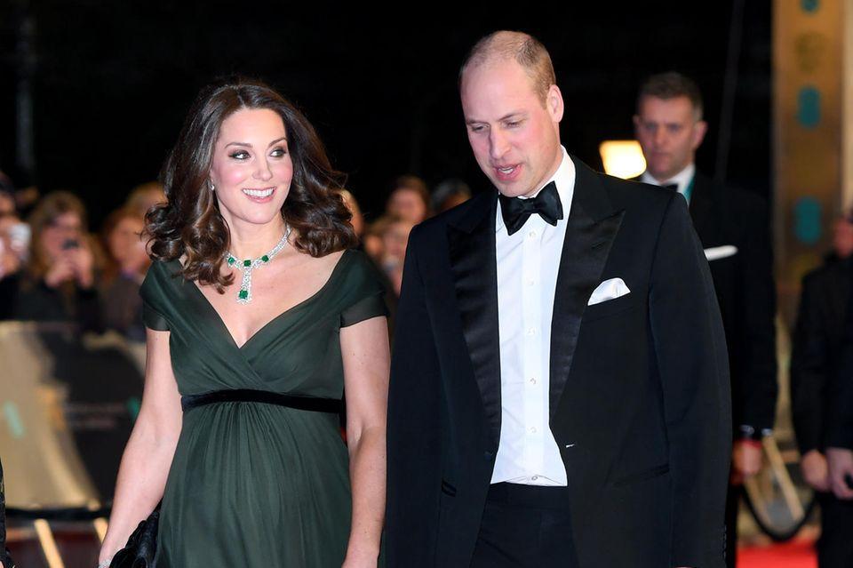 Herzogin Catherine und Prinz William bei den BAFTAS 2018