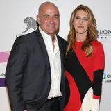"""Im April 2017 posieren Andre und Steffi zusammen auf dem roten Teppich der """"Power of Love""""-Gala in Las Vegas."""