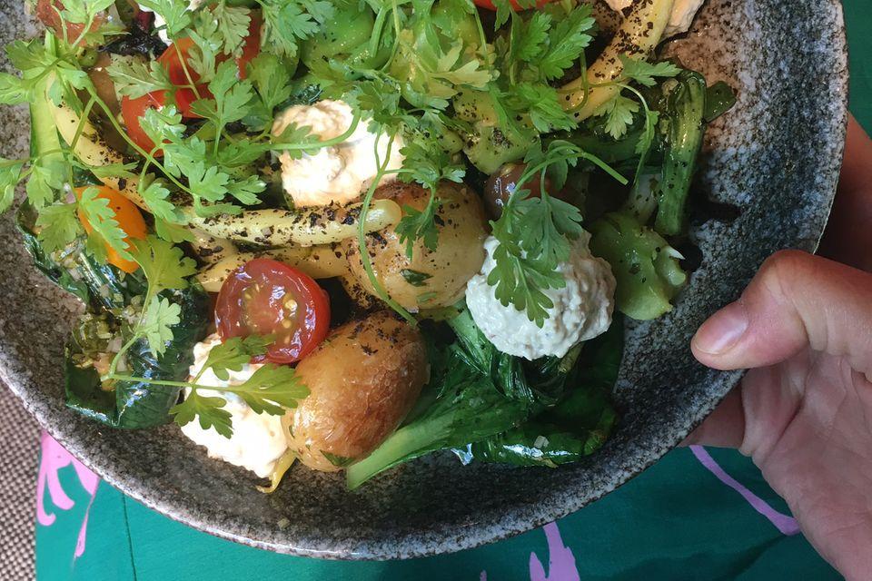 Lauras Dinner: Ofengemüse mit Quark