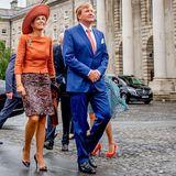 Tag 2  Königin Máxima und König Willem-Alexander besuchen das altehrwürdige Trinity College in Dublin.