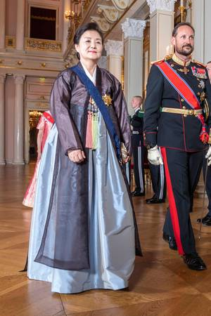 Kronprinz Haakon mussteKim Jung-Sook alleine empfangen