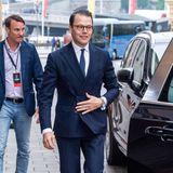 Prinz Daniel ist bei der Veranstaltung am 13. Juni in Stockholm mal alleine im Auftrag der schwedischen Krone unterwegs. Er begleitet seinen Schwager und dessen Frau.